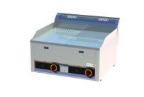 Gas-Grillplatte 1/2 gerillt 1/2 glatt verchromt 2 Heizzonen 660 x 600 x 290 mm