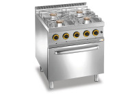 Gas-Herd 4 Brenner Gas-Backofen 700 x 700 x 850 mm