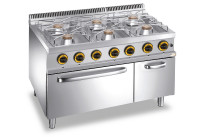 Gas-Herd 6 Brenner Gas-Backofen 1100 x 700 x 850 mm