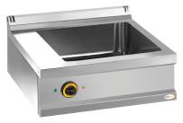 Elektro-Bain-Marie 1 x GN 2/1 H=160 mm Serie 700/ 700 x 700 x 250 mm