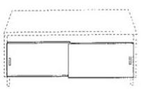 Schiebetüren für Wokherde Breite 1650 mm