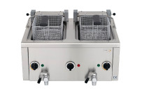 Elektro-Fritteuse 2x 6 l mit Ablasshahn, 400V