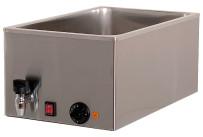 Elektro-Bain-Marie 1 x GN 1/1 H=150 mm mit Ablaufhahn 340 x 540 x 250 mm