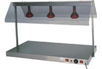 Warmhalteplatte mit 2 Infrarotlampen