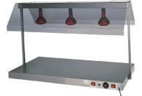 Warmhalteplatte mit 3 Infrarotlampen