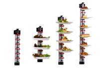 Tellerstapelsystem PLATE MATE, Wandmodell bis 9 Teller / H=770 mm