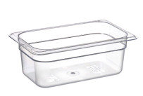 GN-Behälter, GN 1/4, 265 x 162 x 100 mm, Polycarbonat transparent