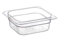 GN-Behälter, GN 1/6, 176 x 162 x 65 mm, Polycarbonat transparent