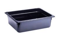 GN-Behälter, GN 1/2, 325 x 265 x 100 mm, Polycarbonat, schwarz