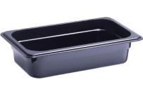GN-Behälter, GN 1/4, 265 x 162 x 65 mm, Polycarbonat, schwarz