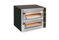 Pizzaofen, 2 Backkammern für 8 Pizzen ø 300 mm, inkl. Sicherheitsschütze