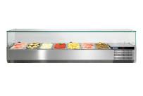 Kühlaufsatzvitrine mit Glasaufsatz 7 x GN 1/3