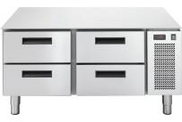 Unterbaukühltisch, 4 Schubladen, 86 l, 1200 x 673 x 572 mm