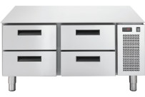 Unterbautiefkühltisch, 4 Schubladen, 86 l, 1200 x 673 x 572 mm