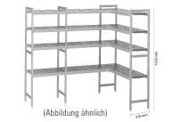 Kühlzellenregal 4 Etagen L-Form passend zu Kühlzelle 661041, 661054