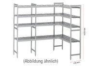 Kühlzellenregal 4 Etagen U-Form passend zu Kühlzelle 661042, 661055