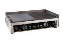 Elektro-Grillplatte 2 Heizzonen 1/2 glatt 1/2 gerillt 720 x 520 x 210 mm