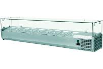 Kühlaufsatzvitrine 6 x GN 1/4 H=150 mm, 1400 x 335 x 435 mm