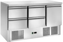 Kühltisch GN 1/1 1 Tür 4 Schubladen 1365 x 700 x 870 mm