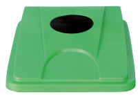 Deckel mit Einwurföffnung rund grün für Behälter 861083 und 861084