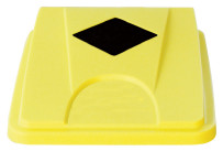Deckel mit Einwurföffnung quadratisch gelb für Behälter 861083 und 861084