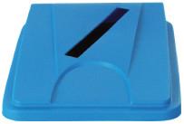 Deckel mit Einwurfschlitz blau für Behälter 861083 und 861084