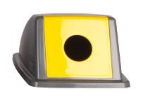 Deckel mit Einwurföffnung rund gelb/grau für Wertstoffsammler 80 l