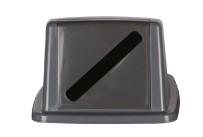 Deckel mit Einwurfschlitz grau für Behälter 861083 und 861084