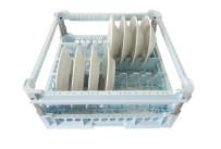 Tellerkorb für 15 Teller, max. ø 280 mm, mit Stoßschutz / 500 x 500 x 240 mm