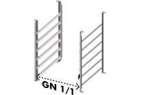 Einhanggestelle für 6 GN 1/1 Bleche für Untergestell XEBC-06EU