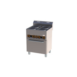 Elektro-Herd 4 Platten Heißluftofen 660 x 600 x 920 mm