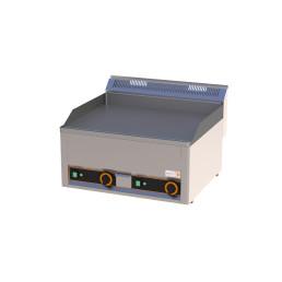 Elektro-Grillplatte glatt 2 Heizzonen 660 x 600 x 290 mm