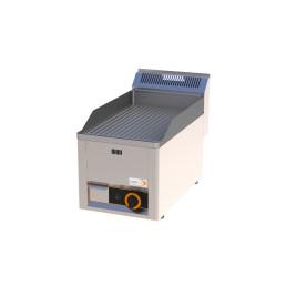 Gas-Grillplatte gerillt 1 Heizone 330 x 600 x 290 mm