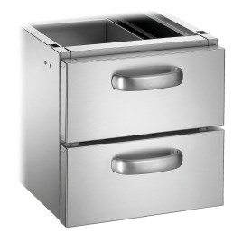 Schubladen-Set mit 2 Schubladen GN 1/1 für Unterschränke Serie 700