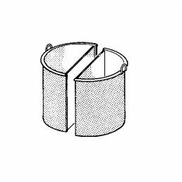 Kochkessel-Einsatz 150 l, 2-teilig