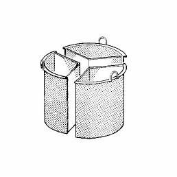 Kochkessel-Einsatz 150 l, 3-teilig