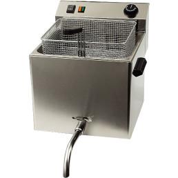 Elektro-Fritteuse 10 l mit Ablasshahn