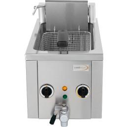 Elektro-Fritteuse 8 l mit Ablasshahn, 400V