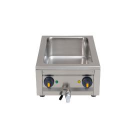 Elektro-Bain-Marie 1 x GN 1/1 H=150 mm mit Ablaufhahn 400 x 600 x 200 mm