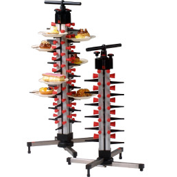 Tellerstapelsystem PLATE MATE, Tischmodell bis 12 Teller / H=490 mm