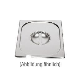 GN-Deckel, GN 1/4, 265 x 162 mm, mit Löffelausschnitt, Edelstahl