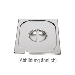 GN-Deckel, GN 1/3, 325 x 176 mm, mit Löffelausschnitt, Edelstahl