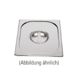 GN-Deckel, GN 2/4, 530 x 162 mm, ohne Löffelausschnitt, Edelstahl