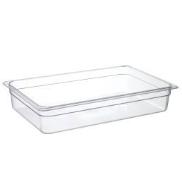 GN-Behälter, GN 1/1, 530 x 325 x 100 mm, Polycarbonat transparent