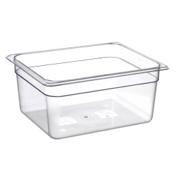 GN-Behälter, GN 1/2, 325 x 265 x 150 mm, Polycarbonat transparent