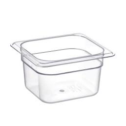 GN-Behälter, GN 1/6, 176 x 162 x 100 mm, Polycarbonat transparent