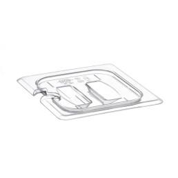 GN-Deckel, GN 1/6, 176 x 162 mm, mit Griff, Polycarbonat transparent