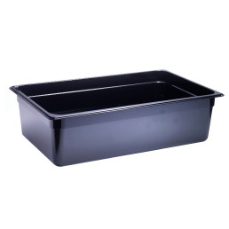 GN-Behälter, GN 1/1, 530 x 325 x 150 mm, Polycarbonat, schwarz