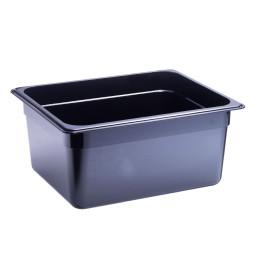 GN-Behälter, GN 1/2, 325 x 265 x 150 mm, Polycarbonat, schwarz