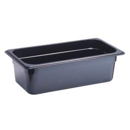 GN-Behälter, GN 2/4, 530 x 162 x 100 mm, Polycarbonat, schwarz